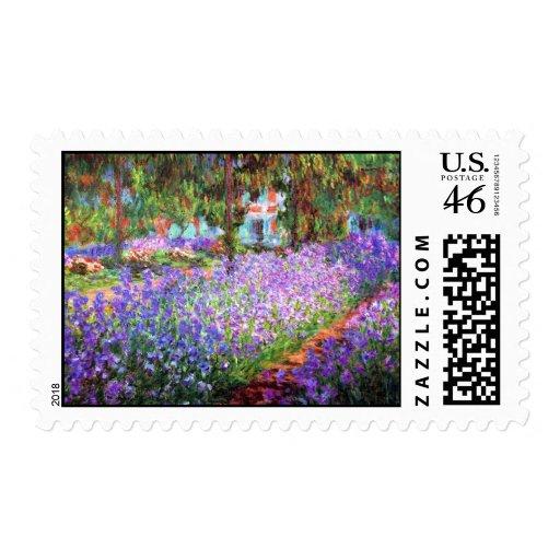 El jardín del artista en Giverny, Claude Monet Sello