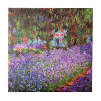 El jardín del artista en Giverny de Monet Azulejo Cuadrado Pequeño