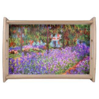 El jardín del artista en Giverny de Monet Bandejas