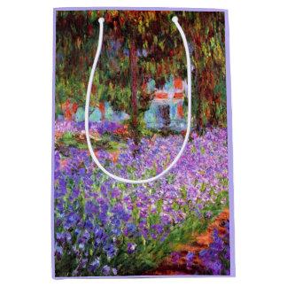 El jardín del artista en Giverny de Monet Bolsa De Regalo Mediana