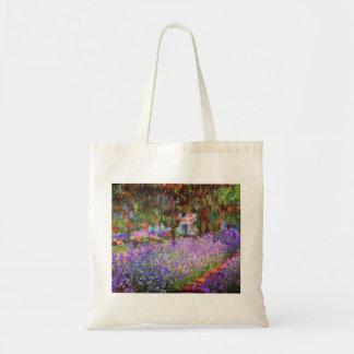 El jardín del artista en Giverny de Monet Bolsa Tela Barata