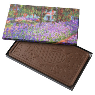 El jardín del artista en Giverny de Monet Chocolate Con Leche Personalizado