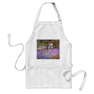 El jardín del artista en Giverny de Monet Delantal
