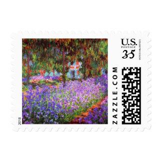 El jardín del artista en Giverny de Monet Estampilla