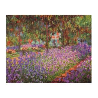 El jardín del artista en Giverny de Monet Impresión En Madera