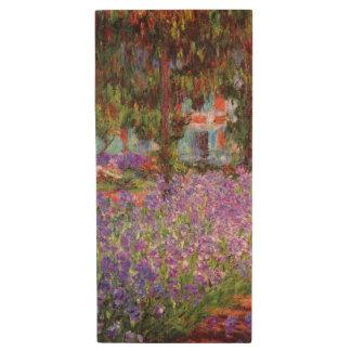 El jardín del artista en Giverny de Monet Memoria USB 2.0 De Madera