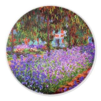 El jardín del artista en Giverny de Monet Pomo De Cerámica
