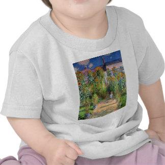 El jardín del artista en Vetheuil, Claude Monet Camiseta