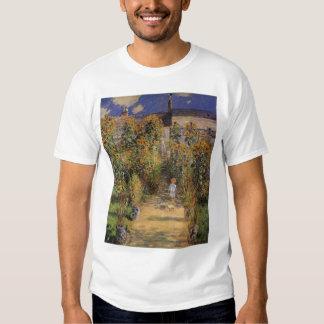 El jardín del artista en Vetheuil de Claude Monet Camisas