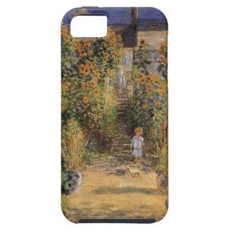 El jardín del artista en Vetheuil de Claude Monet iPhone 5 Funda