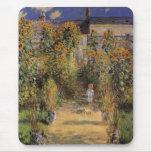 El jardín del artista en Vetheuil de Monet, arte d Alfombrillas De Raton