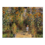 El jardín del artista en Vetheuil de Monet, arte d Postales