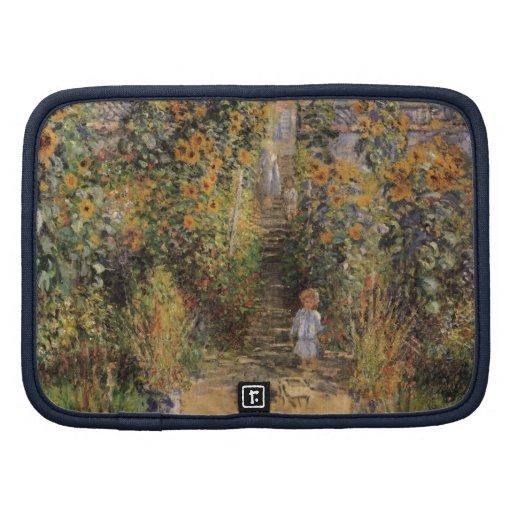 El jardín del artista en Vetheuil de Monet, arte Organizador
