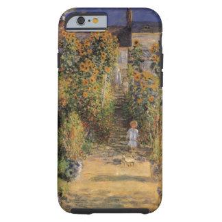 El jardín del artista en Vetheuil de Monet, arte Funda De iPhone 6 Tough