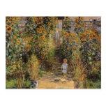 El jardín del artista en Vetheuil de Monet, arte Postales