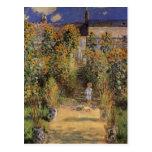 El jardín del artista en Vetheuil de Monet, arte Postal
