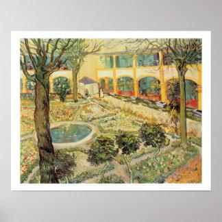 El jardín del asilo en Arles 1889 aceite en lona Impresiones