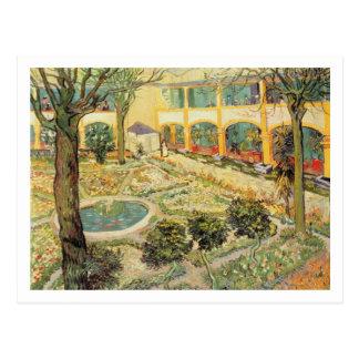 El jardín del asilo en Arles 1889 aceite en lona Postales