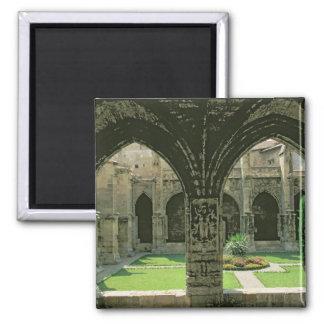 El jardín del claustro imán cuadrado