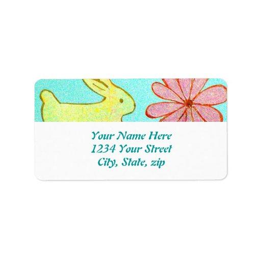 El jardín del conejo etiquetas de dirección