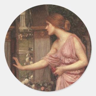 El jardín del Cupid que entra de la psique Pegatinas