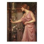 El jardín del Cupid que entra de la psique Postal