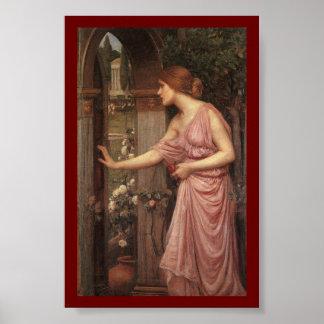 El jardín del Cupid que entra de la psique Póster