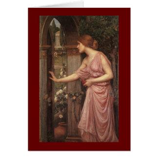 El jardín del Cupid que entra de la psique Tarjeta De Felicitación