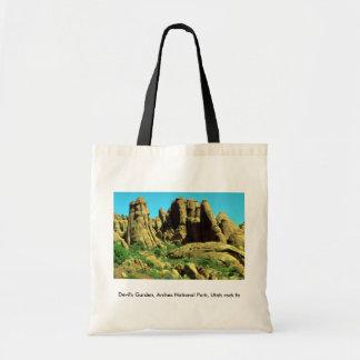 El jardín del diablo, arcos parque nacional, roca  bolsa de mano