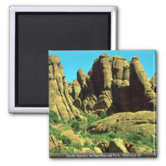 El jardín del diablo, arcos parque nacional, roca  iman de nevera
