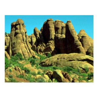 El jardín del diablo, arcos parque nacional, roca  postal