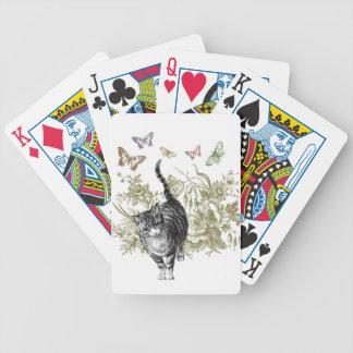 El jardín del gatito baraja cartas de poker