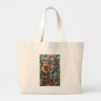 El jardín del girasol bolsa tela grande