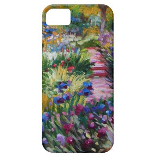 El jardín del iris de Claude Monet iPhone 5 Case-Mate Protector