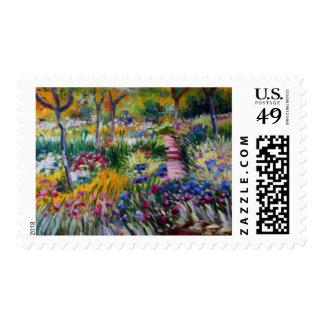 El jardín del iris de Claude Monet Timbre Postal