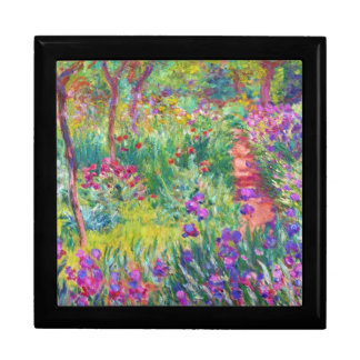 El jardín del iris en Giverny Claude Monet fresco, Cajas De Joyas