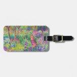 El jardín del iris en Giverny Claude Monet fresco, Etiqueta De Equipaje