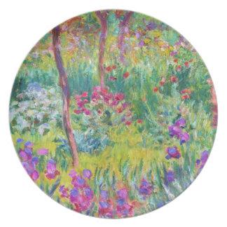 El jardín del iris en Giverny Claude Monet fresco, Platos