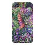 El jardín del iris en Giverny, Claude Monet iPhone 4 Fundas