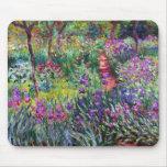 El jardín del iris en Giverny, Claude Monet Tapetes De Raton