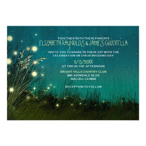 El jardín del país enciende invitaciones del boda invitacion personalizada