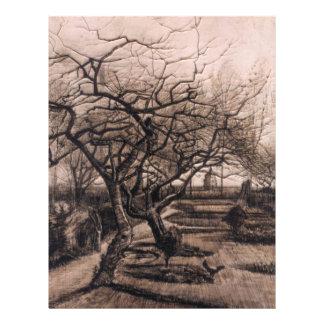 """El jardín del Parsonage - Nuenen en invierno - Van Folleto 8.5"""" X 11"""""""