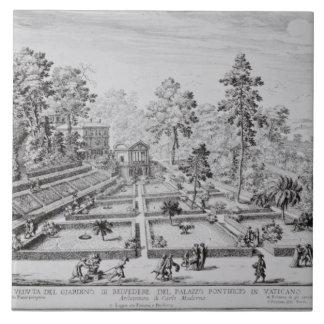 El jardín del placer y el pabellón de papa Pío IV  Azulejo Cuadrado Grande