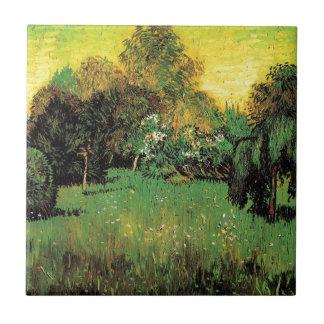 El jardín del poeta de Vincent van Gogh Tejas Cerámicas