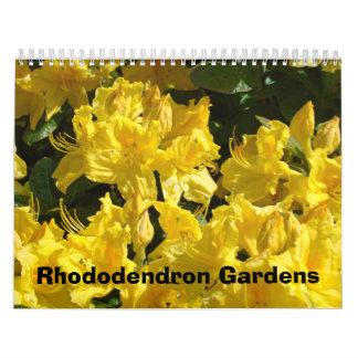El jardín del rododendro hace calendarios la natur