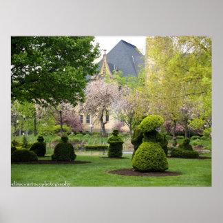El jardín del Topiary de Columbus Posters