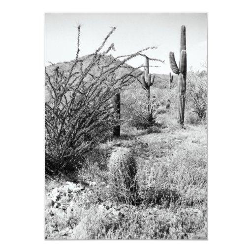 El jardín del vaquero (desierto de AZ Sonoran) Invitación 12,7 X 17,8 Cm