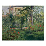 El jardín en Bellevue, 1880 Impresiones