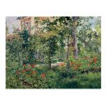 El jardín en Bellevue, 1880 Postal