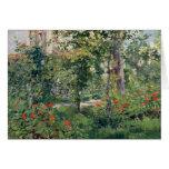 El jardín en Bellevue, 1880 Tarjeta